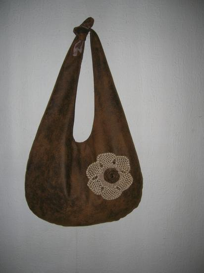 besace fleur macramé (vendue)