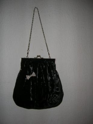 bourse velours noir/argent (vendue)