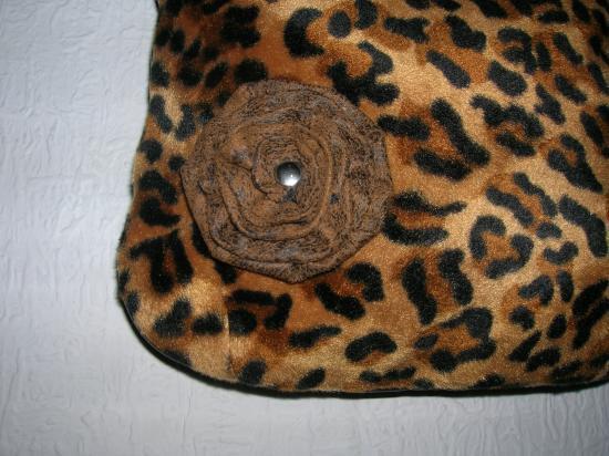 petite besace marron/léopard