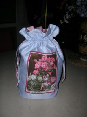 Bouquet rose et bleu