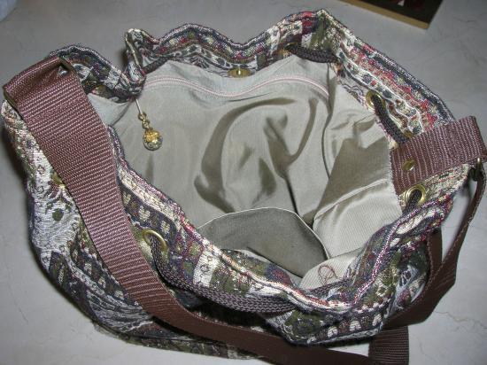 doublure avec poches et zip