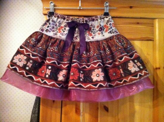 jupe velours réversible 4 ans