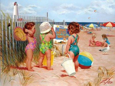 Demoiselles à la plage